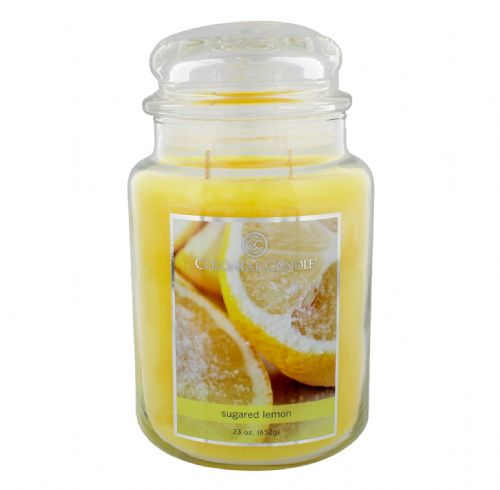 Sugared Lemon Luxury Fragranced Apothecary Jar Candle 23oz
